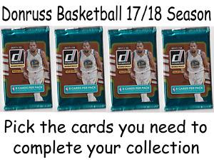 NBA Donruss Basketball 2017/18 Trading Cards Pick Choose what u need base rookie