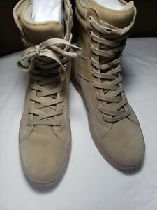 J/SLIDES SAND SUEDE High Top Sneakers, Men's Size 8M,  NEW (FITS LIKE MENS 9)