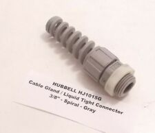 "HUBBELL HJ1015G Cable Gland / Liquid Tight Connector - 3/8"" - Spiral - Gray -"