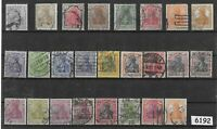 #6192  Early Stamp collection all different / Germania / Weimar / Germany / WWI