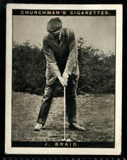Tobacco Card, Churchman, FAMOUS GOLFERS, Golf, Large, 1st, 1927, James Braid, #2