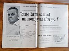 1955 State Farm Insurance Ad Auto Policyholder James C Dunlap Dallas Texas