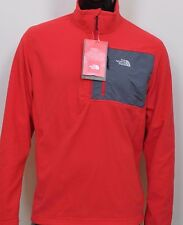 THE NORTH FACE Men's Holata 1/4-Zip Fleece Pullover Coat~ Red~ XL