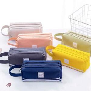 Colorful Large Capacity Pencil Cases Bags Creative Korea Fabric Pen Box HOT