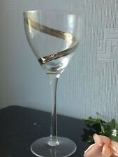Large Single Cocktail Wine Glass Goblet with Silver Spiral Design Cup 400ml