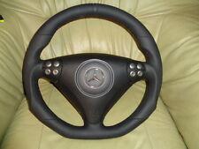 Top tuning AMG volante de cuero mercedes clase c w203 SLK r171 abajo aplanada (c6)