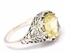 Lemonquarz Ring Größe  54 Silber 925 Sterlingsilber ANTIK STYLE
