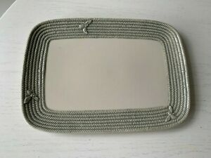 Williams Sonoma Honeybee Bee Rope Pattern Oval Serving Tray Platter Plate Dish