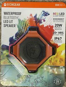 ECOXGEAR EcoEdge Plus Waterproof Bluetooth Speaker  - Orange FREE SHIPPING
