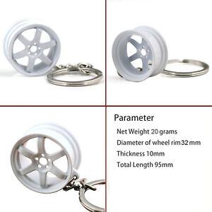 Wheel Rim Tyre Keychain Creative Hot Auto Part Model Tire Keyring Key Chain Ring