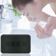 Black Bamboo Charcoal Soap Face Body Clear Anti Bacterial Tourmaline Health Soap