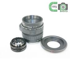 C-Nikon 1+Black C Mount 35mm F/1.7 CCTV Lens for Nikon 1 V1 J1 V2+ 2 Macro Rings