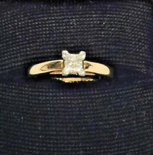 14K Yellow Gold .26 Ct Princess-Cut Diamond Solitaire Ring by Gordons size 7.25