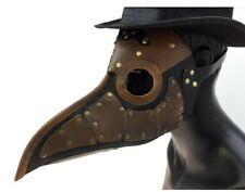 Brown Black Plague Doctor PU Leather Mask Death Di Venezia Dr. Peste Adult Rivet