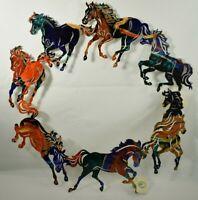 "Lazart - Circle of Horses - 20"" Metal Decorative Hanging Wall Art - Rustic"
