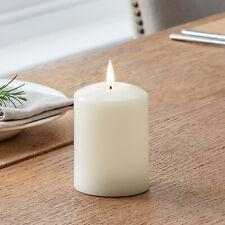Small Battery LED Flameless Pillar Candle TruGlow™ Wick 6h Timer 10cm Lights4fun