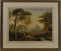 Framed Late 19th Century Watercolour - Rural Landscape