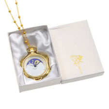 Anime Sailor Moon 20th Anniversary Crystal Star Pocket Watch Necklace Cosplay