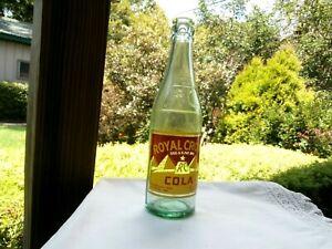 RARE Green Royal Crown RC Cola Bottle 1936 Dayton, Ohio - Hard To Find!