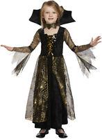 Child Girl's Spiderella Witch Halloween Spider Fancy Dress Costume Ages 4 - 12