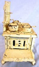 Crescent Vintage Cast Iron Stove Reproduction Toy w/Lots of Extras