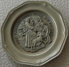 Who Pleasure Gives. - Franklin Mint Miniature Collectible Plate - Vgc Bronze