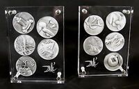 Salvador Dali / Die 10 Gebote / 999er Silber / limitierte Silbermedaillen / 1975