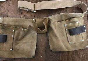 4 Pocket Leather Tool Belt with Suspenders hole