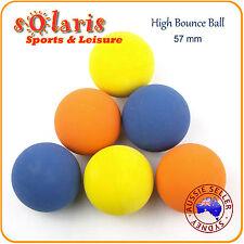 6pk High Bounce Rubber Balls 57mm Mixed Colors Hollow Rubber Pet Dog Ball