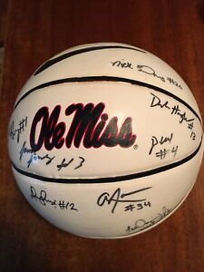 Player Signed Autographed Ole Miss Rebels Logo Basketball