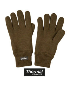 Kombat Thermal Insulated Gloves GREEN knitted British Army warm L/M/XL one size