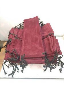 Lot Of 50 Velvet Drawstring Bags