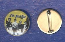 Sex Pistols vintage 1980s CRYSTAL BADGE - YELLOW version
