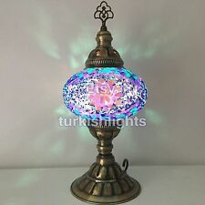 Turkish Mosaic Table Lamp, Light. Large Globe, FREE DHL EXPRESS SHIPPING 2 WORLD