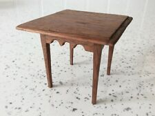 Dolls house miniature 1:12 ARTISAN fine scalloped edge table