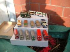 A JOB LOT OF 15 BUSES MATCHBOX CORGI ETC IN USED CONDITION VINTAGE C PICS