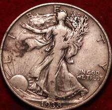 1938-D Denver Mint Silver Walking Liberty Half