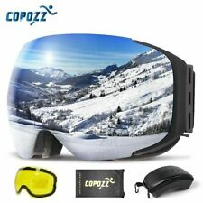COPOZZ Magnetic Ski Goggles with 2s Quick-Change Lens and Case Set