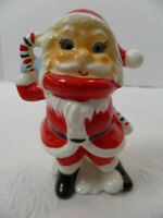 Vintage Ceramic Nodder Google Eyes Santa Claus Figurine - Japan