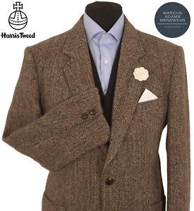 Harris Tweed Jacket Blazer 42R Herringbone Country Weave Hacking Hunting Sports