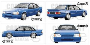 New! Collectable HOLDEN VK SS GROUP A BLUE Large Sticka Set