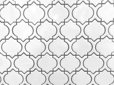 White Glossy Arabesque Moroccan Porcelain Mosaic Tile Wall and Floor Backsplash