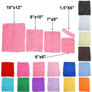 "Crochet Tube Top Elastic Waistband Headband Tutu Xmas Gift 6"" 9"" 10"" 12"" inches"