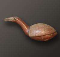 VASE ICA / VASE PRE INCA, VASE ZOOMORPHE, OISEAU / BIRD, 1100-1450, PEROU / PERU