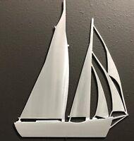 SAILBOAT 3 Metal Wall Art 12X10 Skilwerx Nautical Ocean Beach House Marine Decor