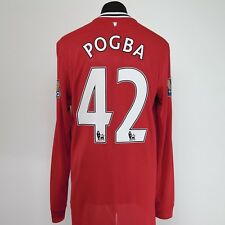 Manchester United Home Shirt Adult Large POGBA #42 2011/2012 Long Sleeves L/S