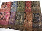 wholesale lot 15 boho floral paisley gold thread scarf pashmina stole wrap shawl