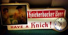 VERY RARE and VINTAGE 1957 knickerbocker lighted sign
