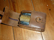 Vintage Clothes Brush Set in Leather Case