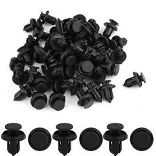 50x 10mm Hole Dia Plastic Rivets Fastener Fender Bumper Push Pin Clips For Honda